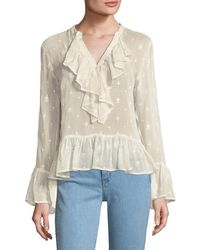 Plenty by Tracy Reese - Flounce Ruffle Blouse - Lyst
