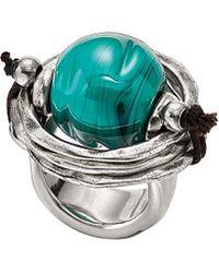 Uno De 50 - Unode50 Silver Murano Glass Ring - Lyst