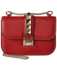Valentino - Glam Lock Leather Shoulder Bag - Lyst