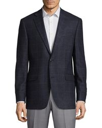 Saks Fifth Avenue - Windowpane Slim Fit Cashmere Sportcoat - Lyst