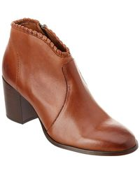 Frye - Nora Whipstitch Leather Bootie - Lyst