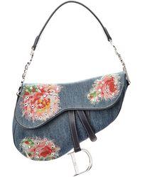 Dior - Limited Edition Blue Denim Saddle Bag - Lyst