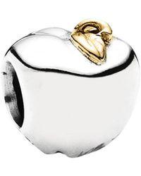 PANDORA - Apple 14k & Silver Charm - Lyst
