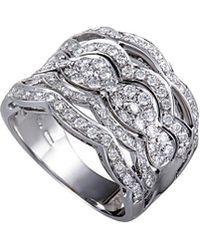 Damiani - 18k 0.86 Ct. Tw. Diamond Ring - Lyst