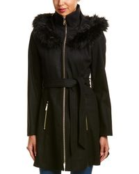 Laundry by Shelli Segal - Belted Wool-blend Coat - Lyst
