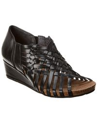 Chocolat Blu - Tide Leather Wedge Sandal - Lyst