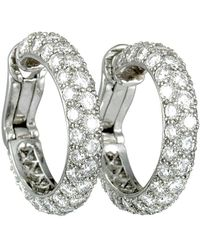 Heritage Tiffany & Co. - Tiffany & Co. Platinum 3.00 Ct. Tw. Diamond Hoops - Lyst