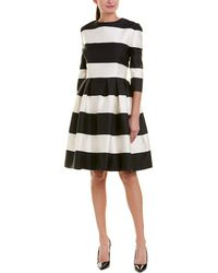 Carolina Herrera - Silk-blend A-line Dress - Lyst