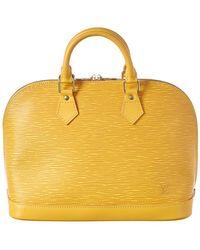 Louis Vuitton - Yellow Epi Leather Alma Pm - Lyst
