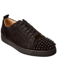 Christian Louboutin - Louis Junior Suede Studded Trainers - Lyst