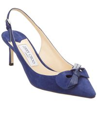 Jimmy Choo - Blare 60 Suede & Kid Leather Slingback Pump - Lyst