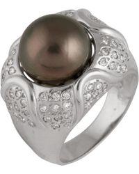 Splendid - 14k 0.76 Ct. Tw. Diamond & 11-12mm Tahitian Pearl Ring - Lyst