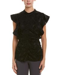 BCBGMAXAZRIA - Sleeveless Shirred Top In Black - Lyst