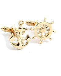 Bey-berk - Ship Wheel & Anchor Cufflinks - Lyst