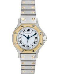 Cartier - Cartier 1980s Santos Octagon Watch - Lyst