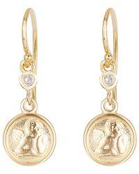 Ariana Rabbani - 14k Diamond Cherub Earrings - Lyst