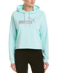 PUMA - Essential Logo Cropped Hoodie - Lyst