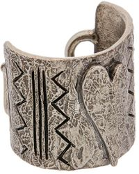 Valentino - Silver Abstract Ring - Lyst