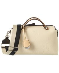 7aa19aad6f Fendi - By The Way Regular Leather Boston Bag - Lyst