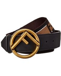 Fendi - Logo Leather Belt - Lyst