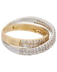 Effy - Fine Jewellery 14k Two-tone 0.90 Ct. Tw. Diamond Ring - Lyst