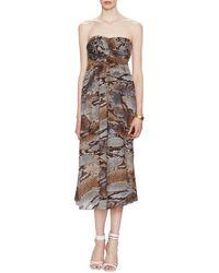 L'Agence - L''agence Python Strapless Dress - Lyst