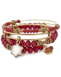 ALEX AND ANI - Crystal Set Of 3 Charm Bracelets - Lyst