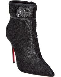 a414889849cb Lyst - Christian Louboutin Attrroupee Buckled Red Sole Bootie in Black