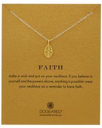 Dogeared - Faith Silver My Angel Charm Necklace - Lyst