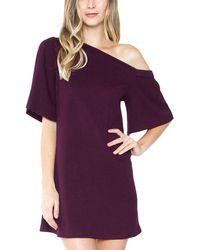 Sugarlips - Bertie One-shoulder Knit Dress - Lyst