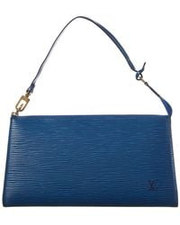 Louis Vuitton - Blue Epi Leather Pochette Accessoires - Lyst