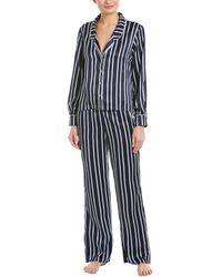 Splendid - 2pc Satin Pajama Set - Lyst