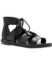 Lucky Brand - Dristel Leather Lace-up Ghillie Sandals - Lyst