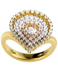 Damiani - 18k Tri-color 0.85 Ct. Tw. Diamond Ring - Lyst