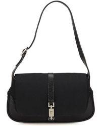 Gucci - Black Nylon & Leather Jackie - Lyst