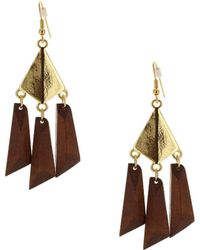 Sparkling Sage - 14k Plated Chandelier Earrings - Lyst