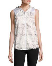 Alaïa - Alala Printed Hooded Zipper Vest - Lyst