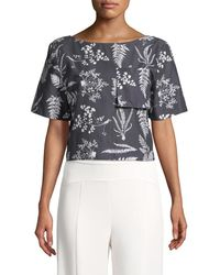 WHIT - Floral Crop Top - Lyst
