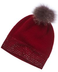 Forte - Rhinestone Cashmere Hat - Lyst