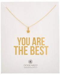Dogeared - You Are The Best 14k Plated Necklace - Lyst