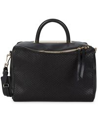 Vince Camuto - Textured Leather Satchel - Lyst