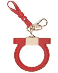 Ferragamo - Gancio Leather Keychain - Lyst