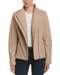 Tahari - T Kelly Leather Jacket - Lyst