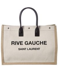 Saint Laurent Noe Rive Gauche Canvas Tote