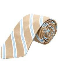 Ike Behar - Taupe Royal Oak Stripe Silk Tie - Lyst