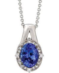 Le Vian - ? 14k 1.11 Ct. Tw. Diamond & Tanzanite Necklace - Lyst