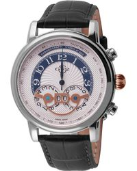 Gv2 - Montreux Men's Silver Dial Calfskin Leather Watch - Lyst