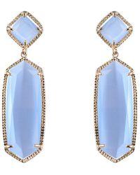 Sparkling Sage - Plated Opal Drop Earrings - Lyst