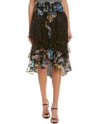Jason Wu - Tiered Chiffon Silk Skirt - Lyst