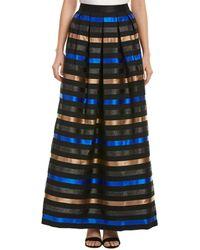 Shoshanna - Jasmine Striped Satin Jacquard Skirt - Lyst